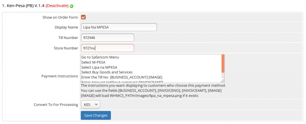 WHMCS MPESA Integration   Enet Online Solutions