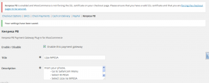 WooCommerce MPESA Gateway - Configuration