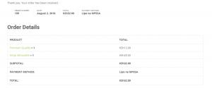 WooCommerce MPESA Gateway - Successful Transaction