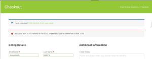WooCommerce MPESA Gateway - Under Payment